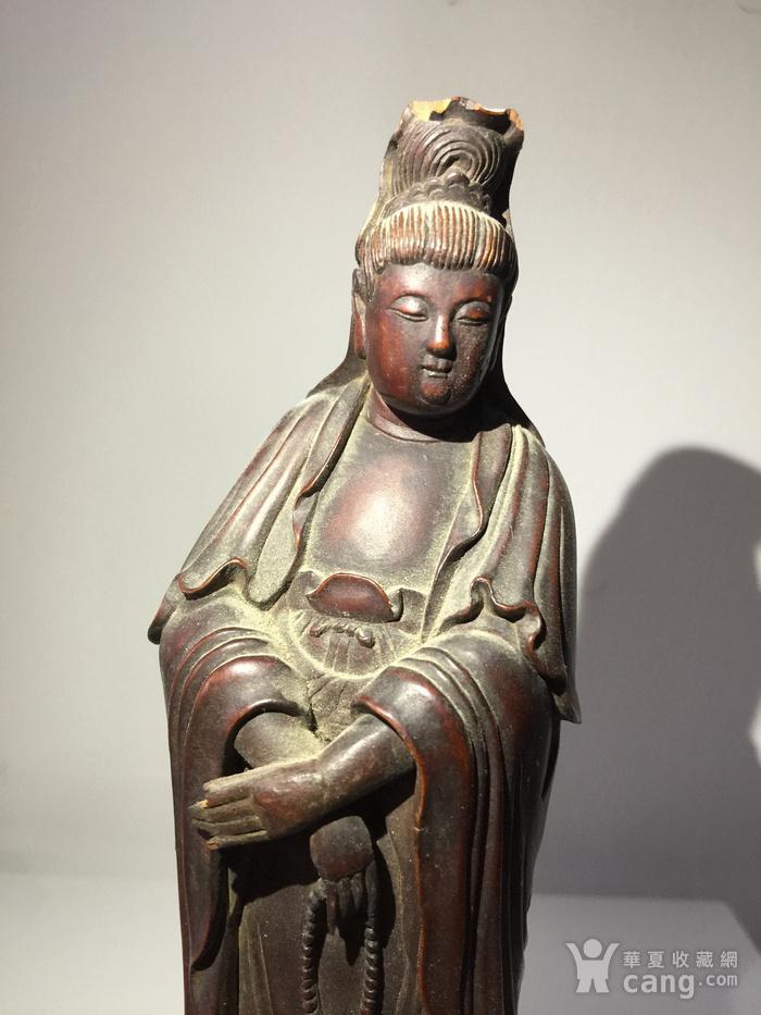 清代黄杨木雕渡海观音图4