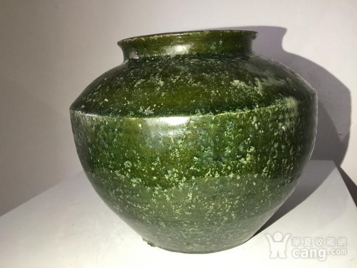 高古玻璃绿釉罐图4