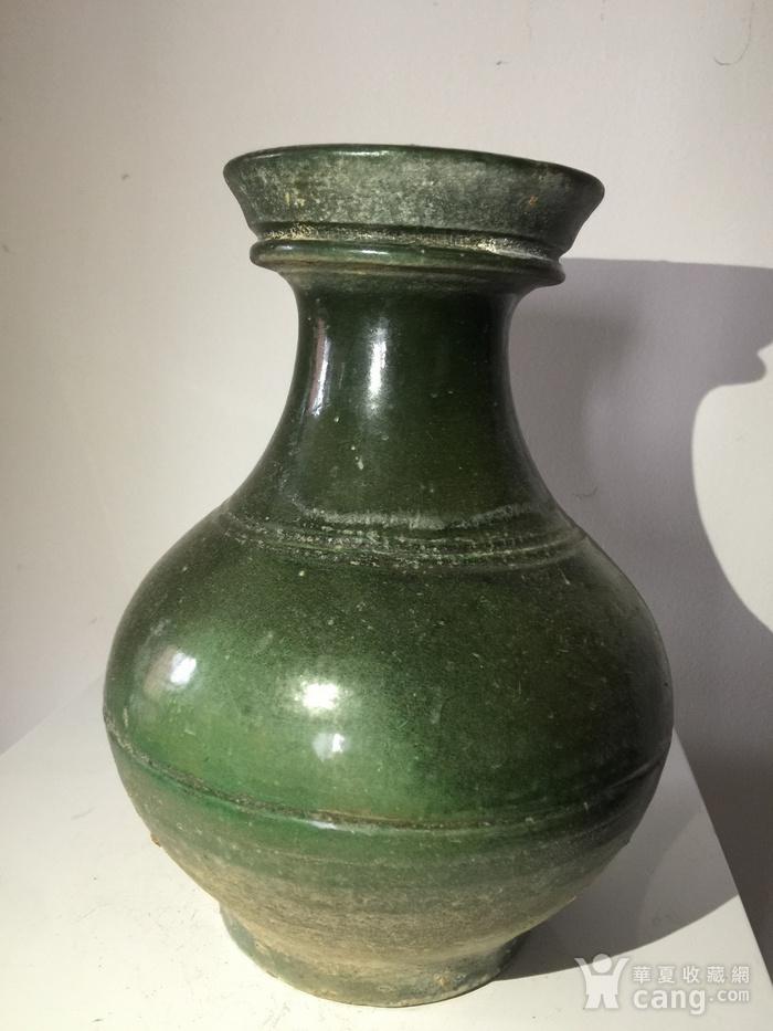 高古玻璃绿釉壶图1