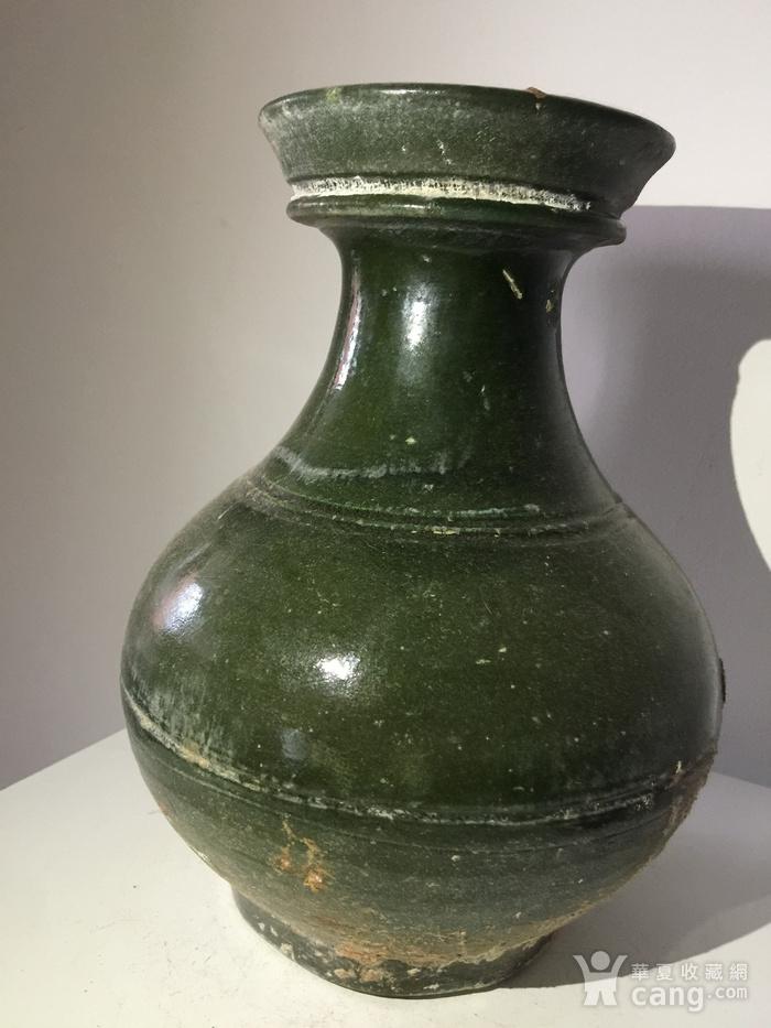 高古玻璃绿釉壶图5