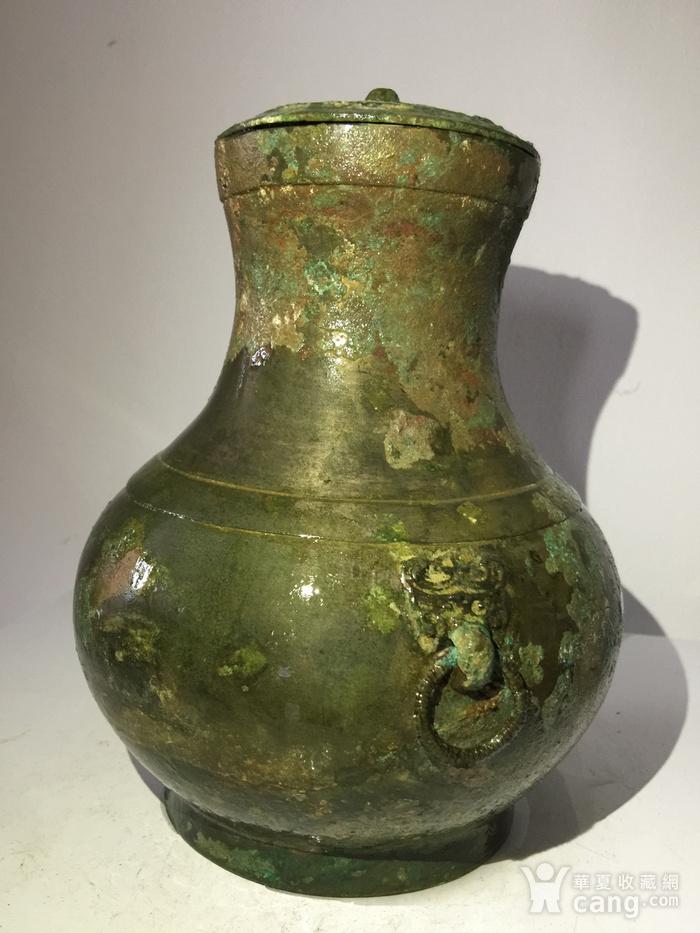 高古青铜器饕餮辅首青铜壶图4