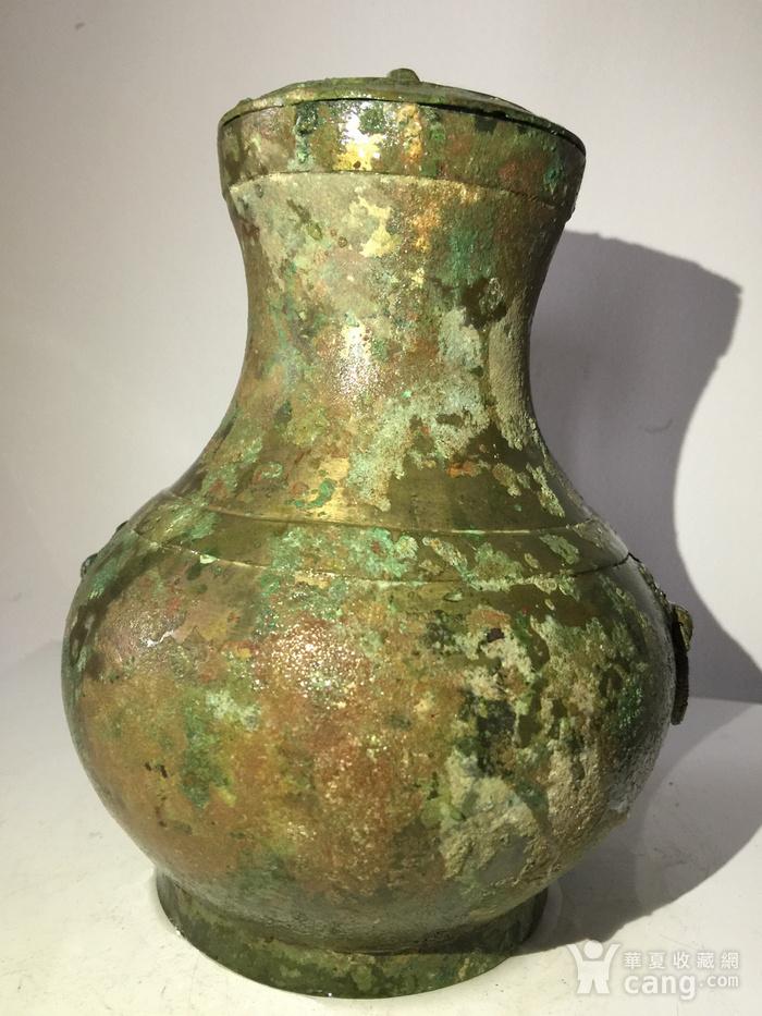 高古青铜器饕餮辅首青铜壶图2
