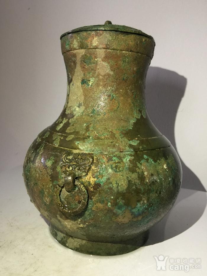 高古青铜器饕餮辅首青铜壶图1