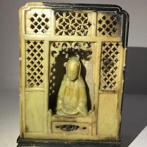 寿山石清代雕观音佛龛