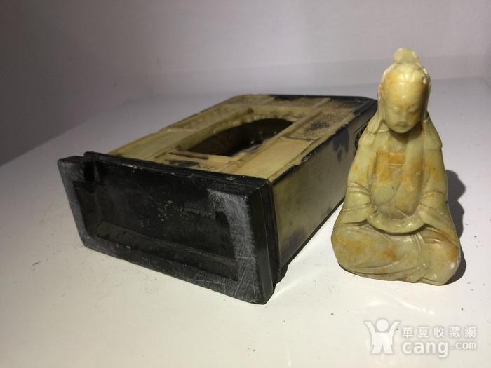 寿山石清代雕观音佛龛图6
