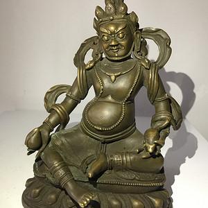清代乾隆宫廷铜雕黄财神