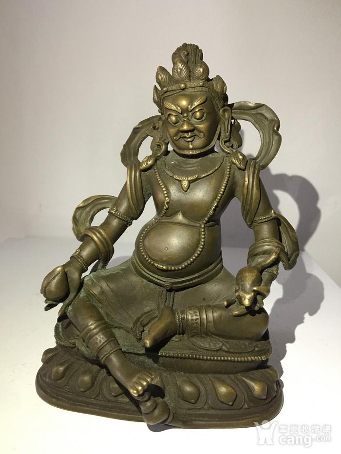 清代乾隆宫廷铜雕黄财神图1