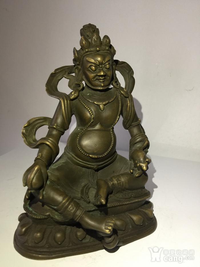清代乾隆宫廷铜雕黄财神图3