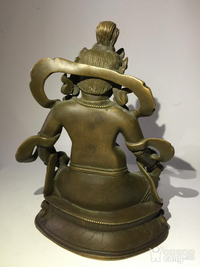 清代乾隆宫廷铜雕黄财神图4