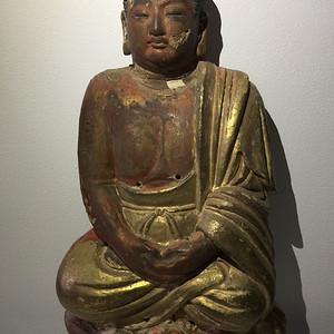 高古泥塑泥金佛祖