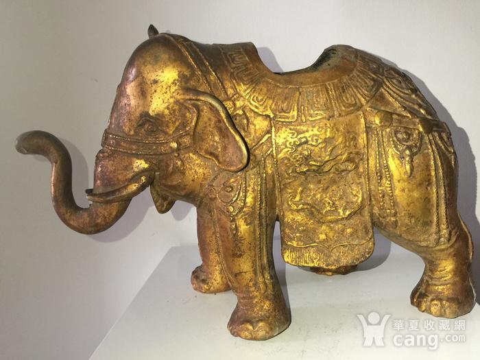 清代漆金佛教吉祥大象熏炉图1