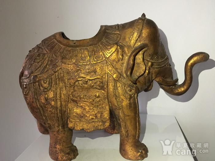 清代漆金佛教吉祥大象熏炉图6