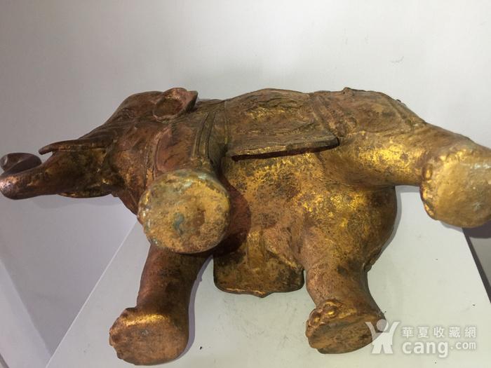 清代漆金佛教吉祥大象熏炉图9