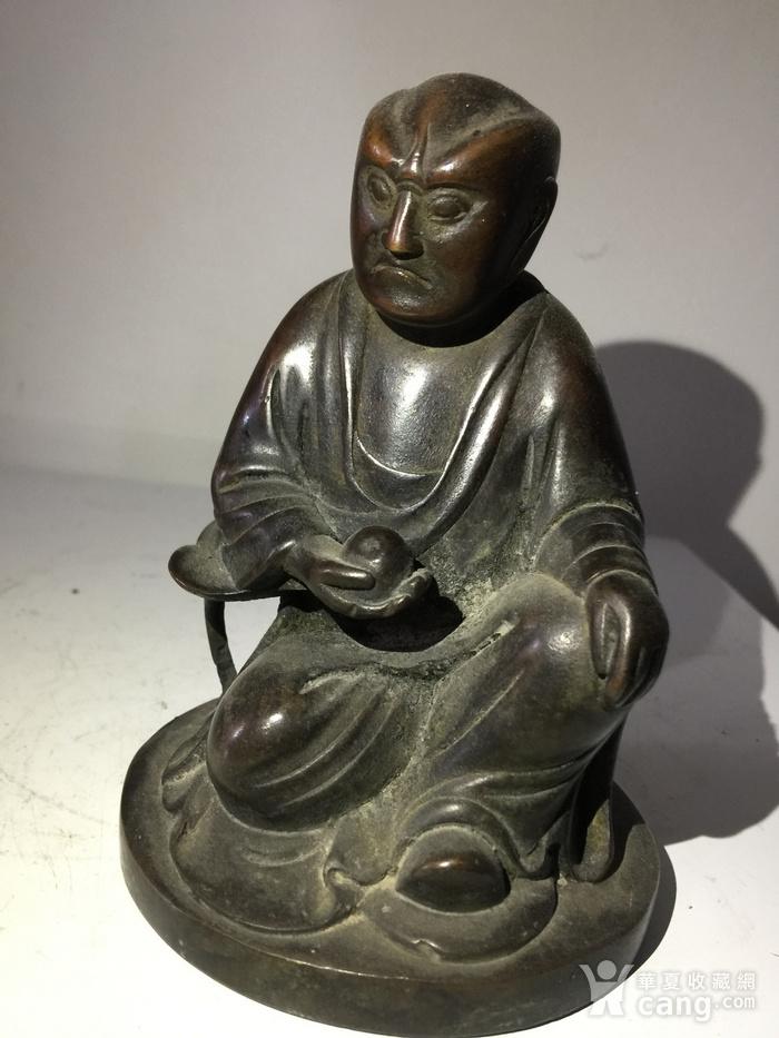 明代铜雕罗汉图2