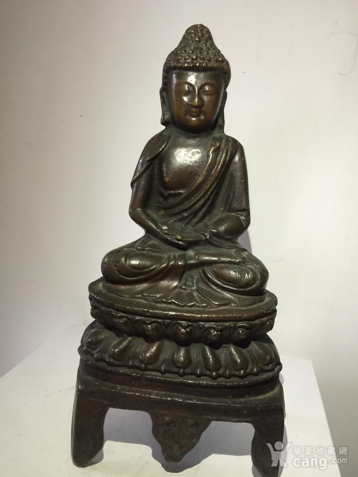 明代铜雕释迦牟尼佛图1