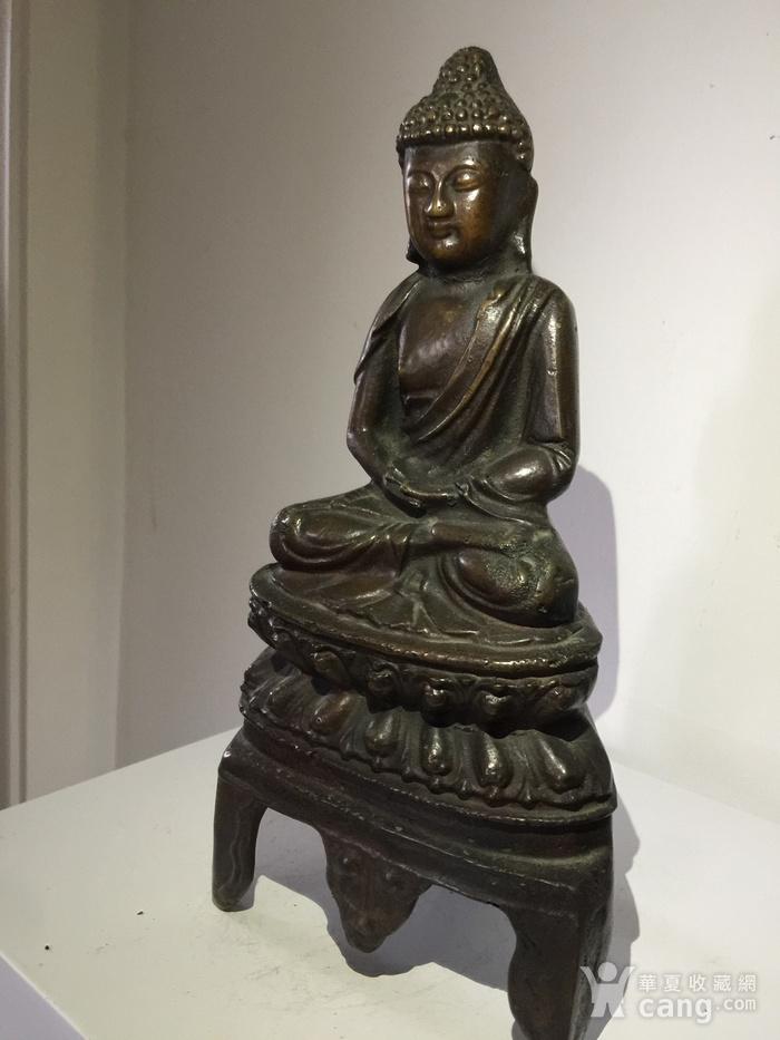 明代铜雕释迦牟尼佛图2