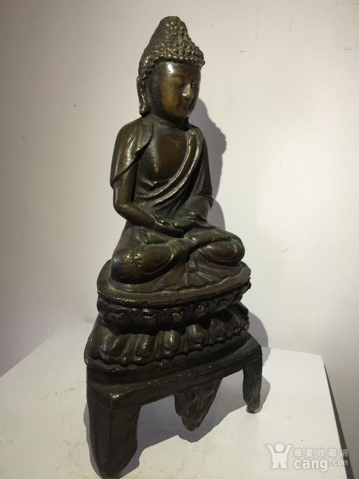 明代铜雕释迦牟尼佛图3