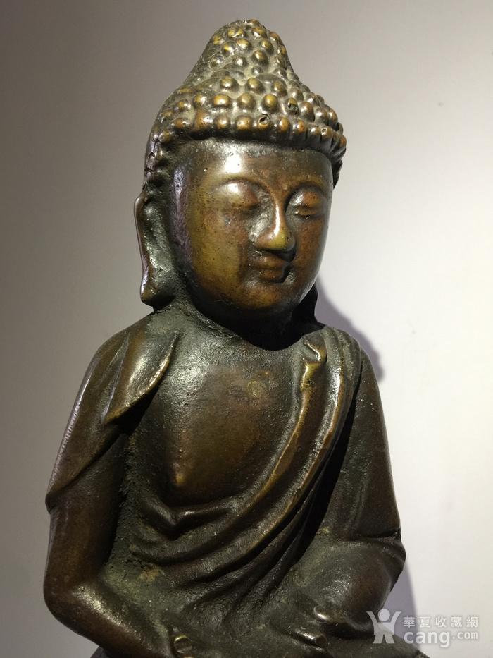 明代铜雕释迦牟尼佛图4