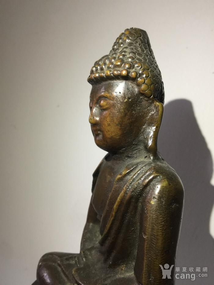 明代铜雕释迦牟尼佛图5