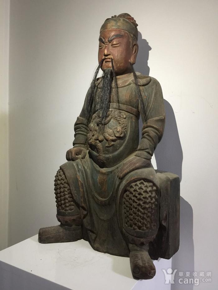 明代嘉靖年木雕关公图2