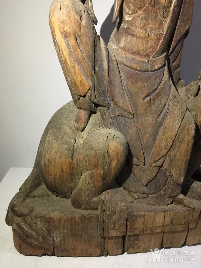 元代木雕骑吼观音图6