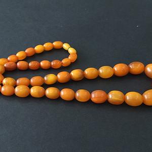 8138欧洲回流百年老蜜蜡枣珠项链