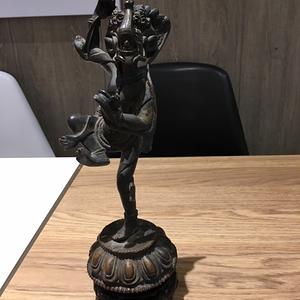 清代西藏密宗大威徳金钢铜像