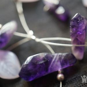 欧洲天然紫水晶优雅造型项链