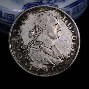 早期收藏西班牙王子双柱银元