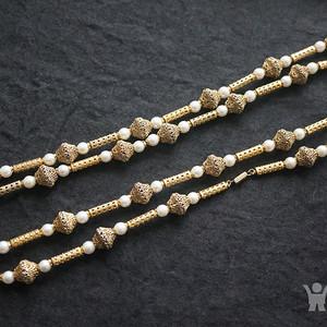 欧洲掐丝珍珠大项链