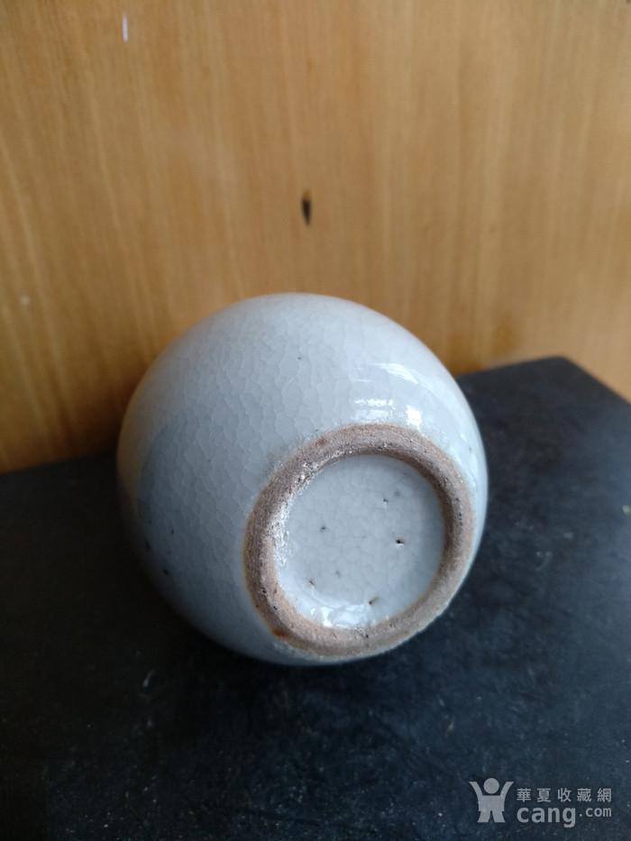 清代哥釉天球瓶,高:11.5Cm文房佳器图8