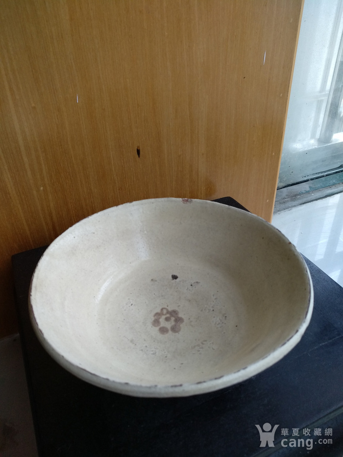 宋磁州窑点彩折腰。口径13Cm,碗口有小崩图2