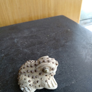 清代德化窑青蛙小件宽:3.5Cm,高2.8Cm。文房佳器。