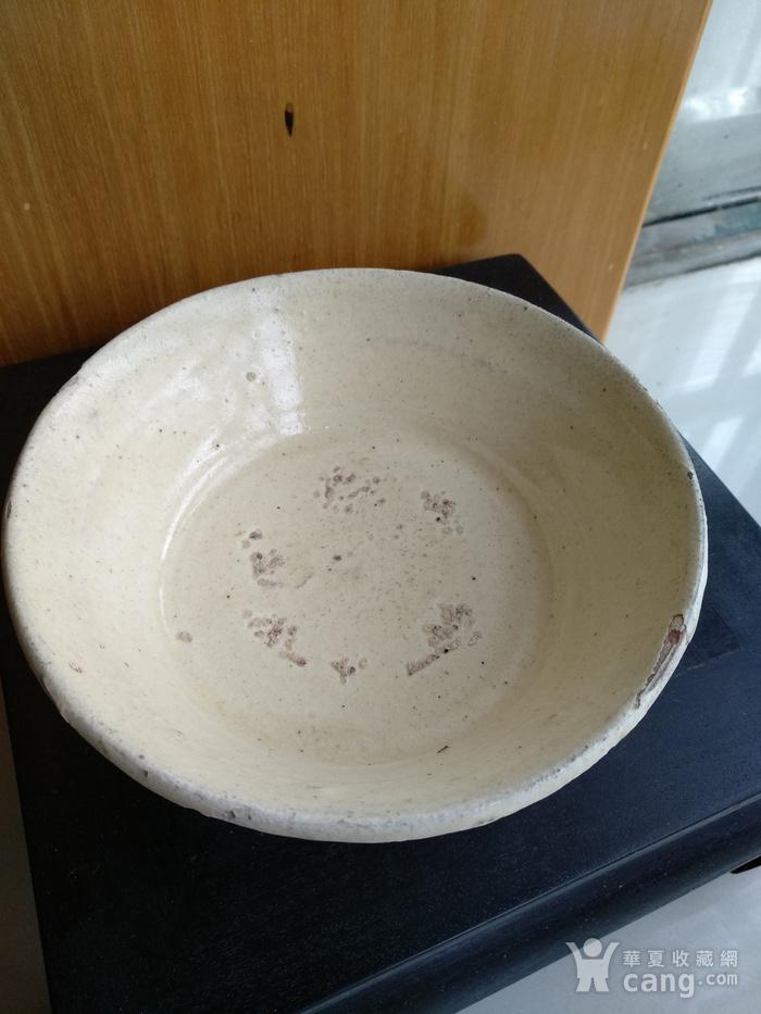 宋磁州窑白釉折腰。口径13Cm图4