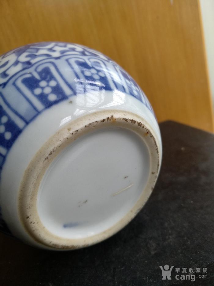 清代青花水盂,高:8.5Cm文房佳器。图6