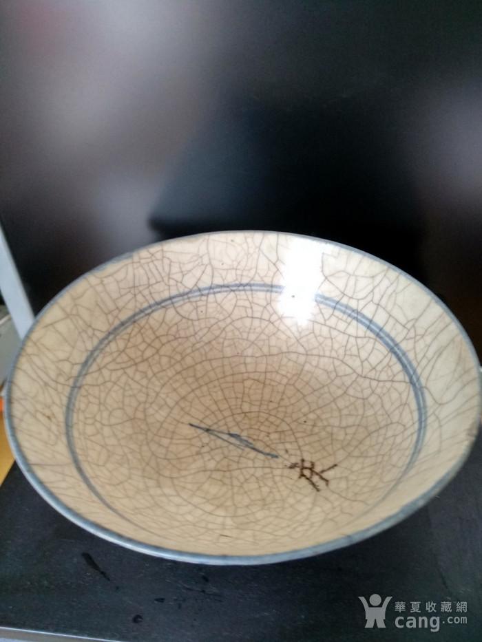 明 清青花哥釉碗,纹饰稀有图4