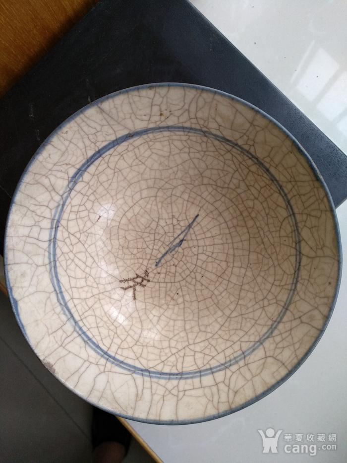 明 清青花哥釉碗,纹饰稀有图6