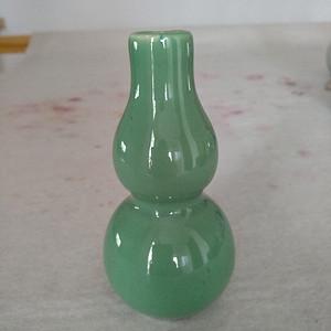 清代绿釉葫芦瓶。高10.3Cm,精美!
