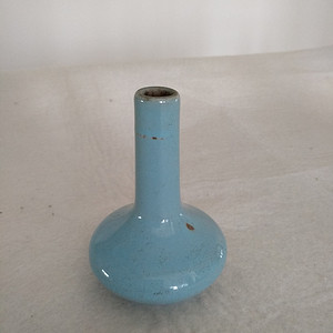 清仿汝釉天球瓶,高:11Cm