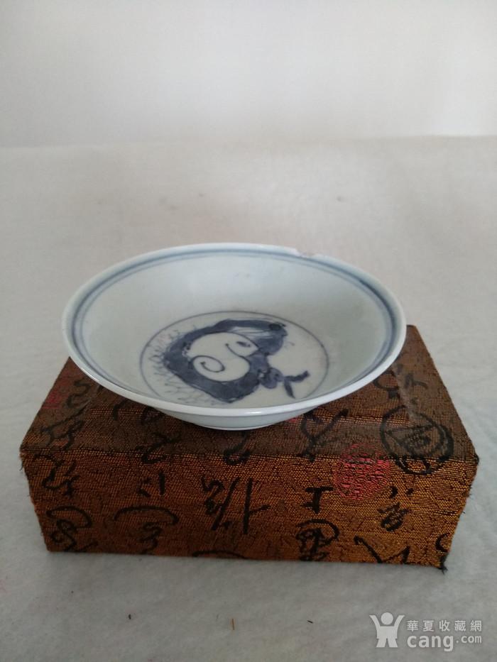 明早期成化年制款青花碟。釉面白中微泛青,润如玉。口径图1