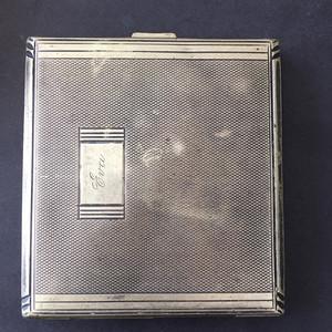 8163欧洲回流老合成银烟盒