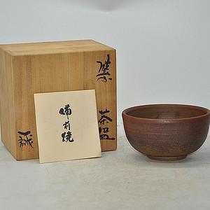 日本茶道備前烧茶碗