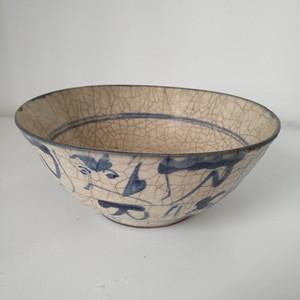 明 清青花哥釉碗,纹饰稀有