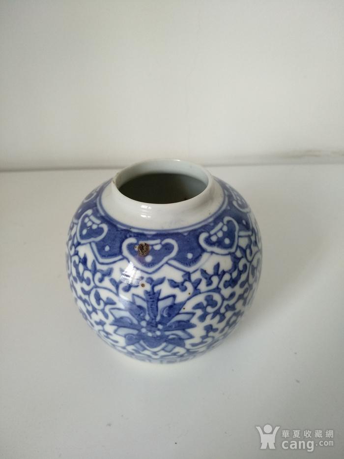 清代青花水盂,高:8.5Cm文房佳器。图1
