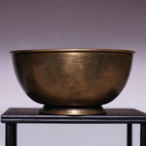 藏海淘 清末民国老铜碗 包老到代!JZ326