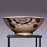 藏海淘 金元白釉红花卉纹碗 JZ158
