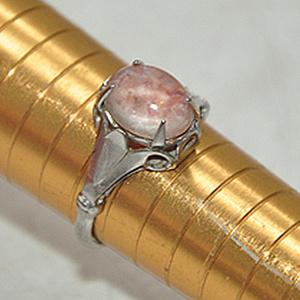 2.2克镶水晶戒指