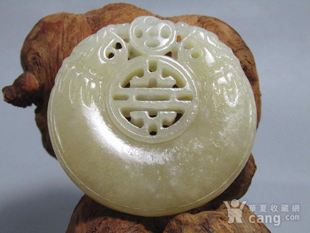 晚清和田且末糖玉 双面二龙戏珠 牌 风化自然清晰图3