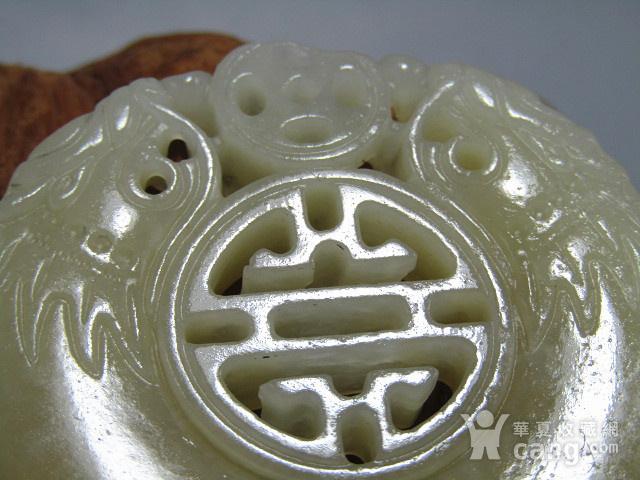 晚清和田且末糖玉 双面二龙戏珠 牌 风化自然清晰图2