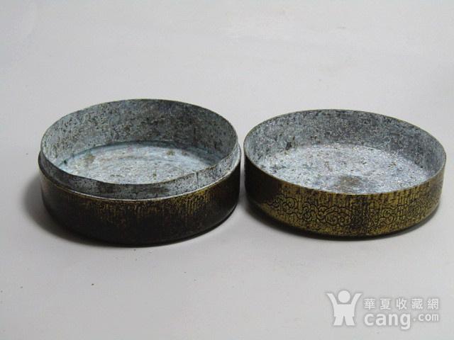 清 老铜打造 铜 圆形 墨盒图4